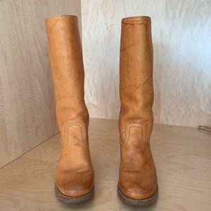 Frye tan leather boot